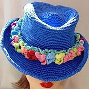 Аксессуары handmade. Livemaster - original item HAT COWGIRL jeans knitted. Handmade.