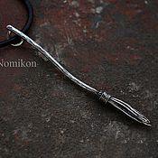 Украшения handmade. Livemaster - original item Silver broom. Handmade.