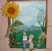Цветы и флористика ручной работы. Ярмарка Мастеров - ручная работа Коллаж в детскую комнату. Handmade.