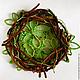 """Пейзаж ручной работы. Ярмарка Мастеров - ручная работа. Купить декоративное панно """"Ветви"""". Handmade. Зеленый, гнездо, панно на стену"""