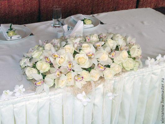 Свадебные цветы ручной работы. Ярмарка Мастеров - ручная работа. Купить Композиция из орхидей. Handmade. Белый, орхидея, свадьба