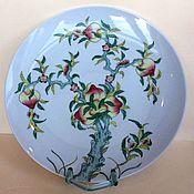 Винтаж handmade. Livemaster - original item Dish, wall plate, Japan, hand painted. Handmade.