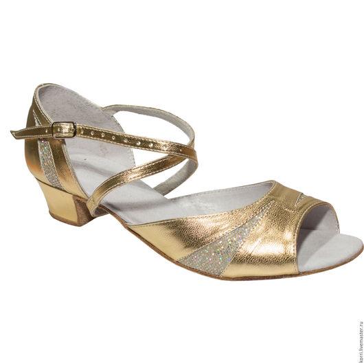 Обувь ручной работы. Ярмарка Мастеров - ручная работа. Купить Дарья (золото). Handmade. Золотой, бальные танцы, танцы