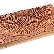 Активный отдых и развлечения handmade. Livemaster - original item Backgammon carved collaboration