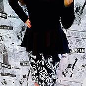 Одежда ручной работы. Ярмарка Мастеров - ручная работа Платье с баской. Handmade.