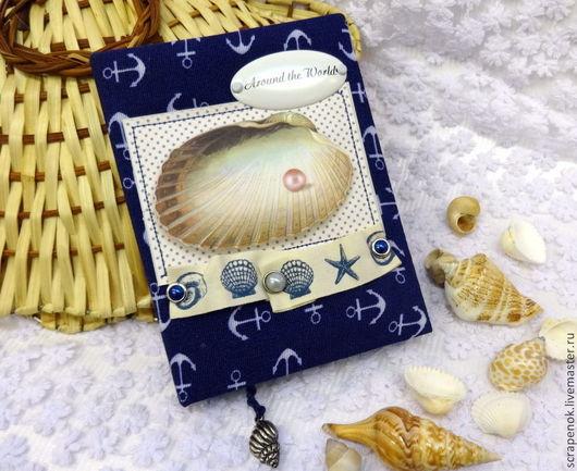 """Блокноты ручной работы. Ярмарка Мастеров - ручная работа. Купить Морской блокнот ручной работы """"Тайны старого маяка"""". Handmade."""