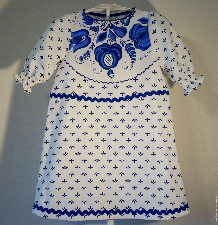 1b1c4e3cf91 Детское платье Гжель 2 – купить в интернет-магазине на Ярмарке ...