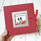 """Подарки к праздникам ручной работы. Ярмарка Мастеров - ручная работа Книга пожеланий на детский день рождения """"Микки Маус"""". Handmade."""