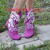 """Обувь ручной работы. Ярмарка Мастеров - ручная работа сапожки летние""""Виола"""". Handmade."""