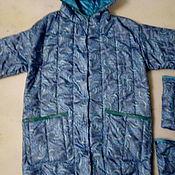 """Одежда ручной работы. Ярмарка Мастеров - ручная работа Пальто из стеганной плащевки """" Бирюза"""". Handmade."""
