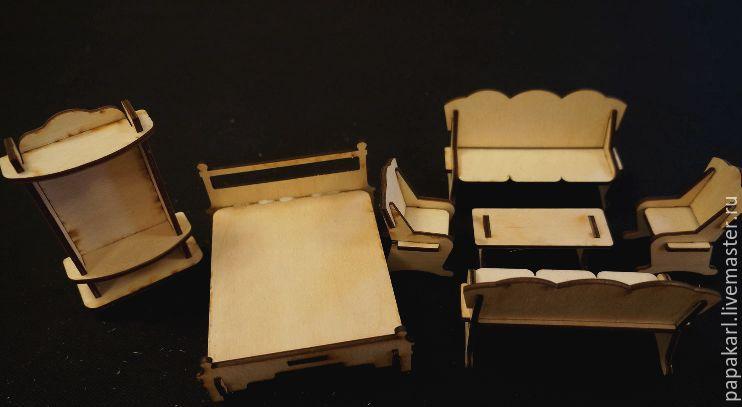 Кукольная мебель из пенопласта