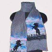 Аксессуары ручной работы. Ярмарка Мастеров - ручная работа шарф валяный Степь. Handmade.