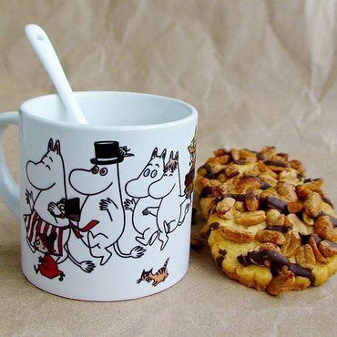 """Посуда ручной работы. Ярмарка Мастеров - ручная работа Чашка с ложкой  """"Муми-тролли"""". Handmade."""