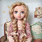 Куклы и игрушки ручной работы. Ярмарка Мастеров - ручная работа Лизонька. Коллекционная текстильная кукла. Handmade.