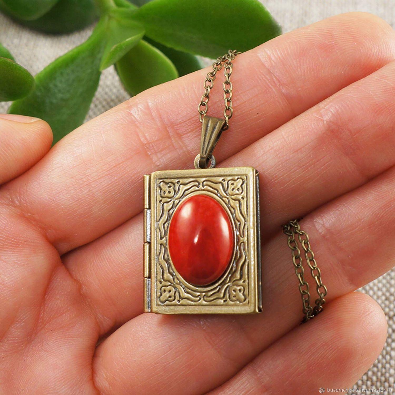 Медальон Книжка Красный Коралл, Подвеска, Москва,  Фото №1
