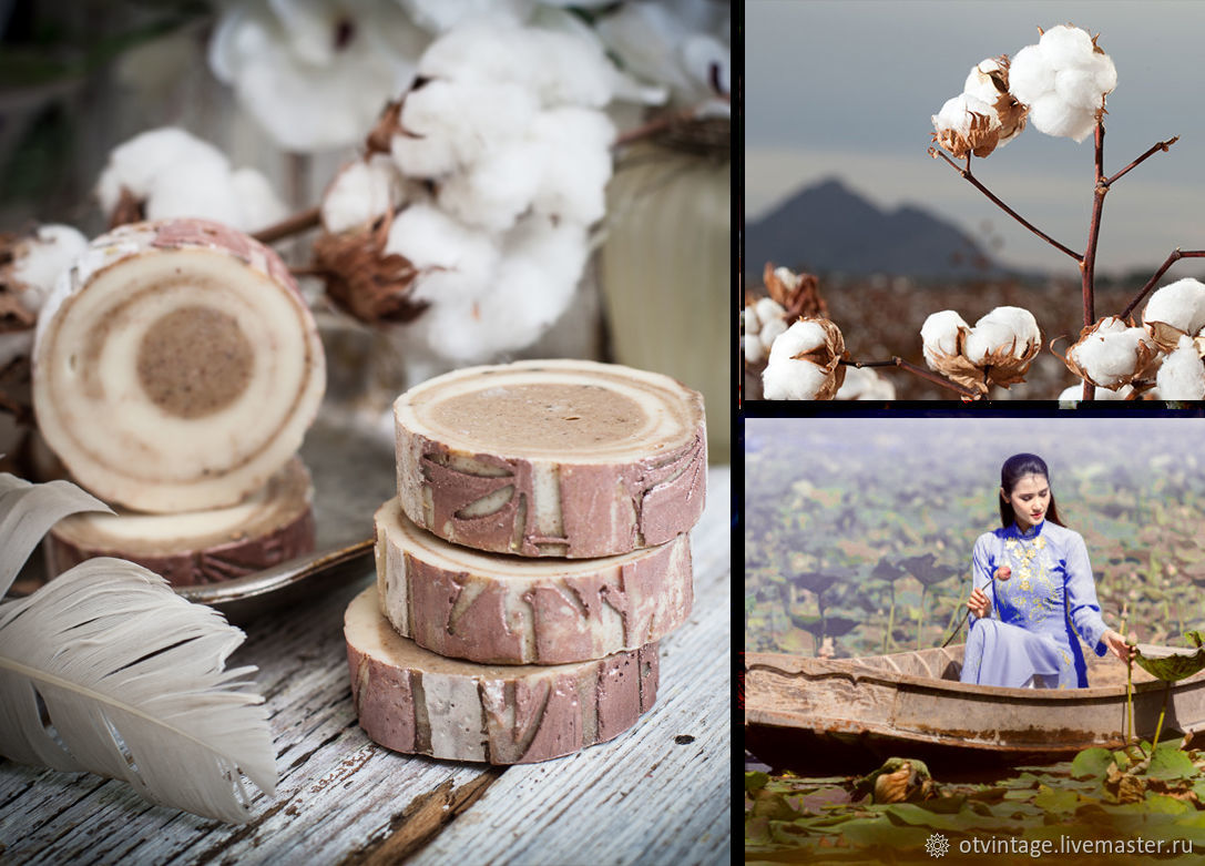 Natural soap 'Princess Lotus' with Lotus wax, Soap, Peterhof,  Фото №1