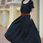 Одежда handmade. Livemaster - original item A linen dress with a full skirt. Handmade.