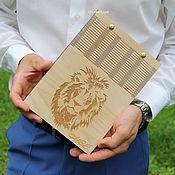 Блокноты ручной работы. Ярмарка Мастеров - ручная работа Деревянный блокнот для офиса дома в подарок менеджеру эко стиль. Handmade.