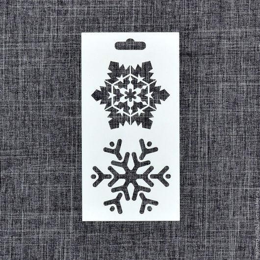 ТР-05-003. Трафарет `Снежинки`.  Многоразовые трафареты нашего производства отличаются отличным качеством и демократичной ценой.