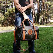 Дорожная сумка ручной работы. Ярмарка Мастеров - ручная работа Дорожная сумка из натуральной кожи. Handmade.