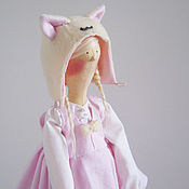 Куклы и игрушки ручной работы. Ярмарка Мастеров - ручная работа Тильда девочка-кошечка. Handmade.