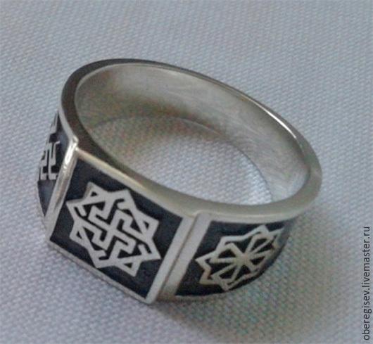 Перстень `Валькирия- Молвинец-Одолень Трава`  из серебра с чернением 7-9гр.- 1600руб. - Под заказ (7дн.);