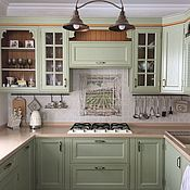 Дизайн и реклама handmade. Livemaster - original item Painted tile Apron for kitchen Window in Provence. Handmade.