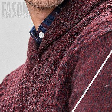 Clothing handmade. Livemaster - original item Jerseys: Burgundy sweater men
