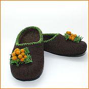 """Обувь ручной работы. Ярмарка Мастеров - ручная работа Тапочки """"Мимоза"""". Handmade."""