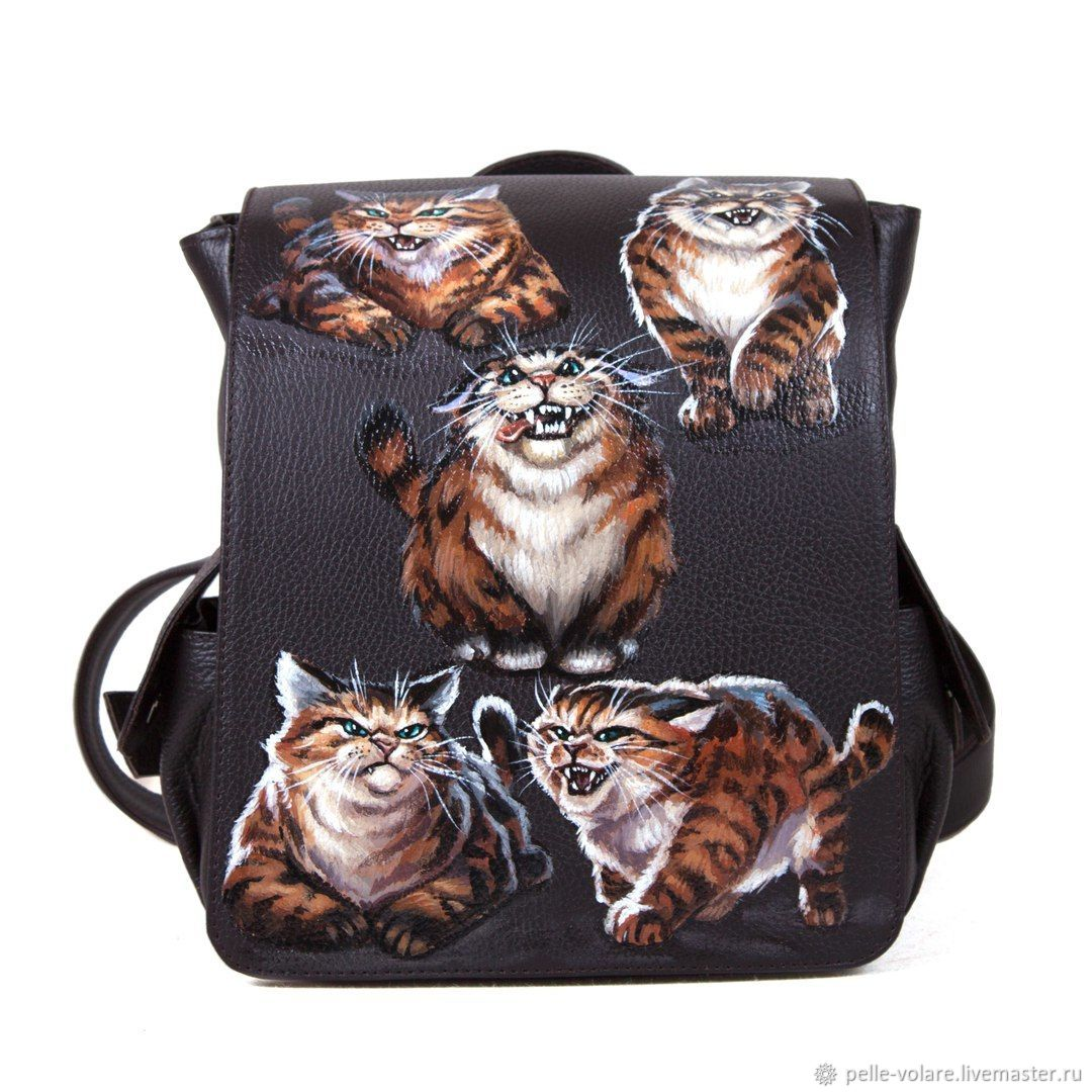 Women's backpack 'Angry cats', Backpacks, St. Petersburg,  Фото №1