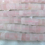 Материалы для творчества ручной работы. Ярмарка Мастеров - ручная работа Розовый кварц шайба 29000. Handmade.