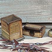 карандашница и визитница Подарок мужчине