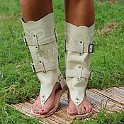 Обувь ручной работы handmade. Livemaster - original item sandals boots genuine leather dairy. Handmade.