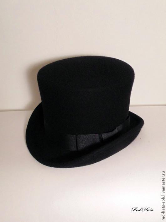 Шляпы ручной работы. Ярмарка Мастеров - ручная работа. Купить Шляпа - Цилиндр. Handmade. Черный, шляпа, фетр велюр