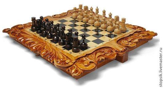 Настольные игры ручной работы. Ярмарка Мастеров - ручная работа. Купить Шахматы, нарды, шашки Компас 13049. Handmade.