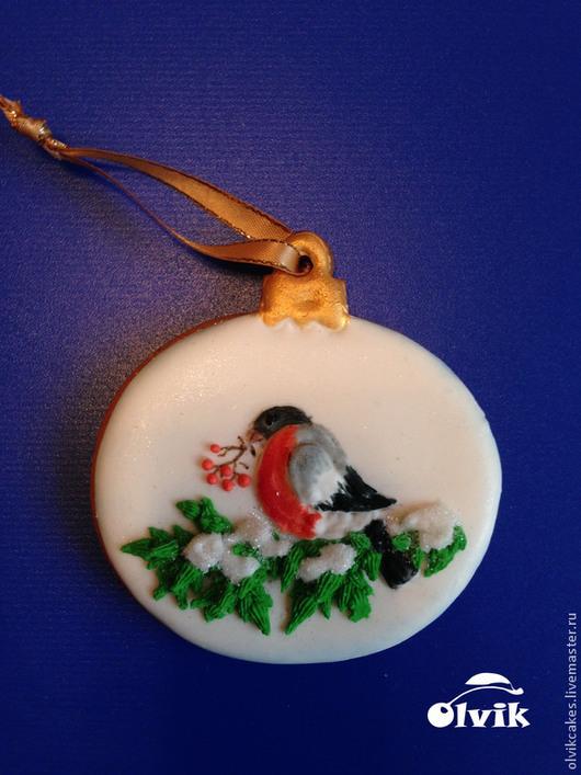 Кулинарные сувениры ручной работы. Ярмарка Мастеров - ручная работа. Купить Шар со снегирем  или со свечой. Handmade.