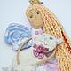Коллекционные куклы ручной работы. Розовая Принцесса, Белая Кошка. Бурдакова Надя (nnnadka). Ярмарка Мастеров. Кукла интерьерная