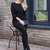 Одежда handmade. Livemaster - original item Tight Jersey dress black Lady dress. Handmade.