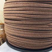 Материалы для творчества handmade. Livemaster - original item 1 m Suede cord (isc.) 3 mm Camel (5345). Handmade.