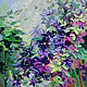 Oil painting Charming clematis, Pictures, Rossosh,  Фото №1
