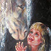 Картины и панно handmade. Livemaster - original item Original oil paintings on canvas Animal wall art Kids room decor. Handmade.