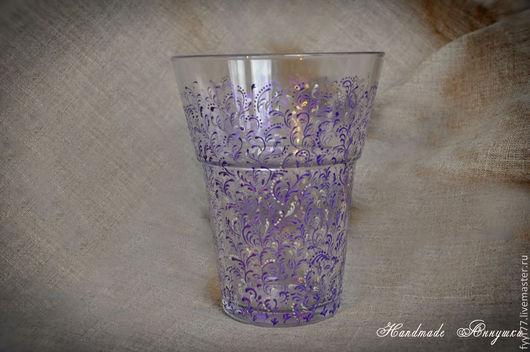 """Вазы ручной работы. Ярмарка Мастеров - ручная работа. Купить Стеклянная ваза """" Фиолетовое настроение"""". Handmade. Ваза, подарок"""