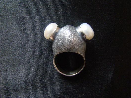 """Кольца ручной работы. Ярмарка Мастеров - ручная работа. Купить Кольцо """"Водолаз"""" с жемчугом. Handmade. Серебряный, серебро"""