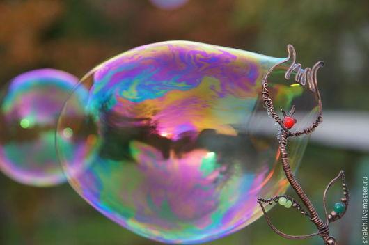 Аксессуары для фотосессий ручной работы. Ярмарка Мастеров - ручная работа. Купить палочка для мыльных пузырей Тюльпан (мыльные палочки из меди). Handmade.