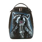 handmade. Livemaster - original item Leather backpack