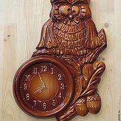 "Для дома и интерьера handmade. Livemaster - original item ""Owl"" №1.Chasy wall for the house.. Handmade."