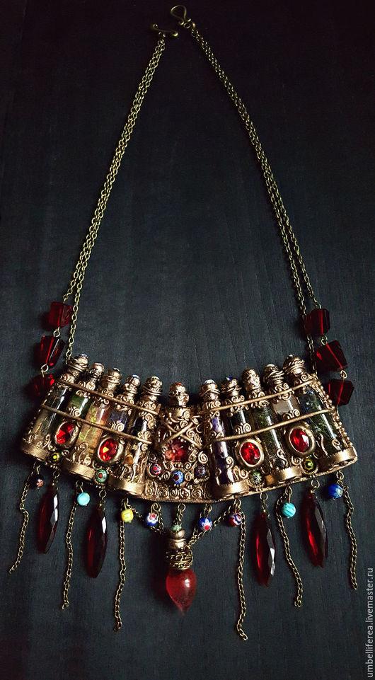 """Колье, бусы ручной работы. Ярмарка Мастеров - ручная работа. Купить Ожерелье """"Ведьмин арсенал"""". Handmade. Винтажный стиль, растения"""