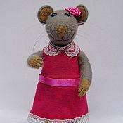 """Куклы и игрушки ручной работы. Ярмарка Мастеров - ручная работа Игрушка из войлока (шерсти) Мышка """"Мэри"""". Handmade."""