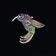 Винтажные украшения. Ярмарка Мастеров - ручная работа. Купить Сверкающая брошь в виде птички-колибри. Handmade. Ретро, винтаж, колибри