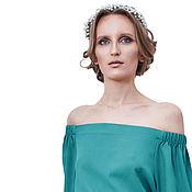 Одежда ручной работы. Ярмарка Мастеров - ручная работа Стильное платье зеленого цвета. Handmade.